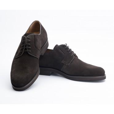 Zapato cordones ante Chocolate